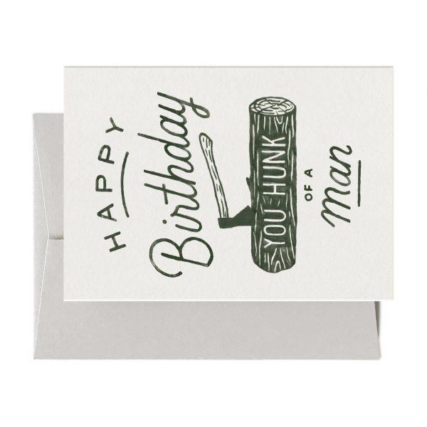 Hunk Of A Man Birthday Card